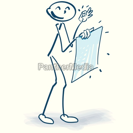 stick figure with a fresh poster