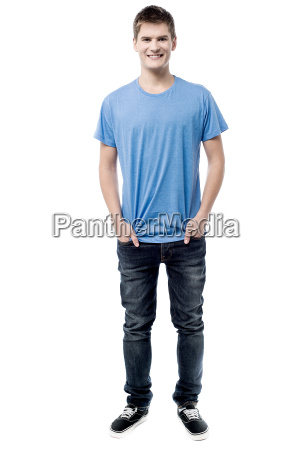 casual pose of handsome man