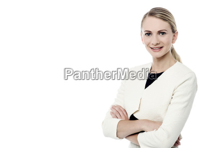 pretty woman posing confident