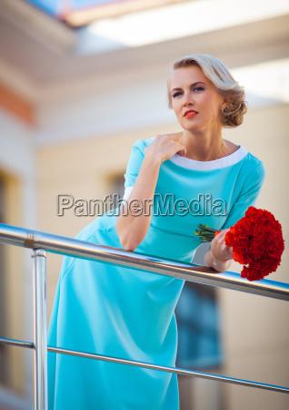 fashion style portrait young elegant woman