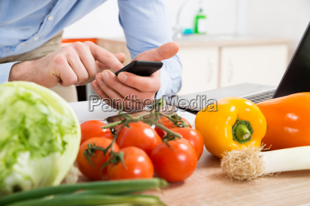 person hands using mobile phone in
