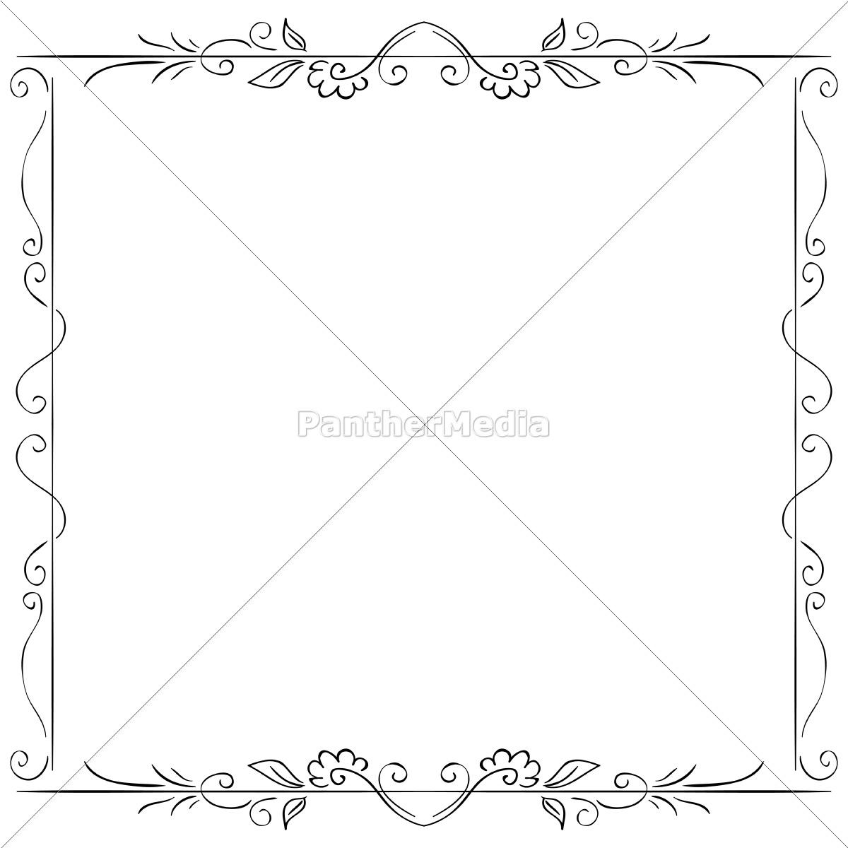 vektor-rahmen auf weißem hintergrund. handzeichnung - Stockfoto ...