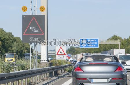 freeway with traffic jam