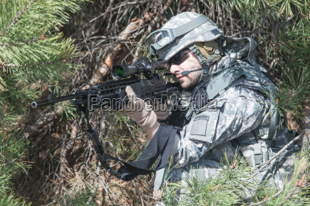 marksman in action