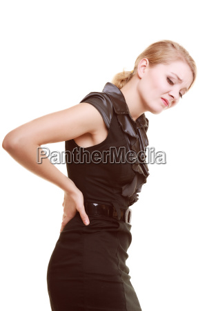 backache young woman suffering from back