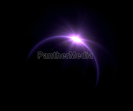 sonnenfinsternis purpurrot ring flare