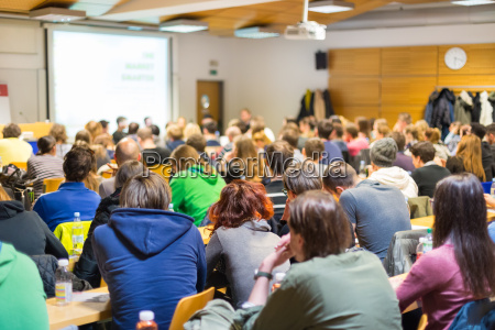 workshop at university lecture hall