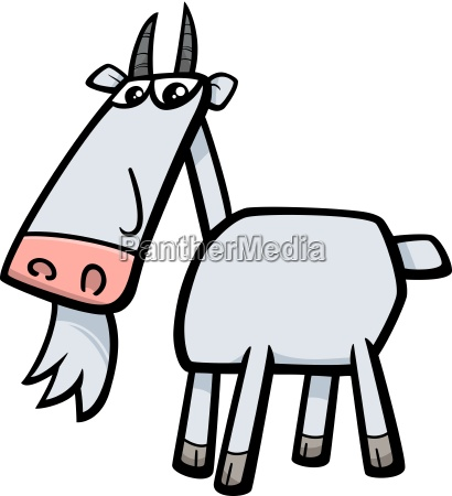 goat farm animal illustration