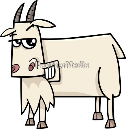 goat farm animal cartoon