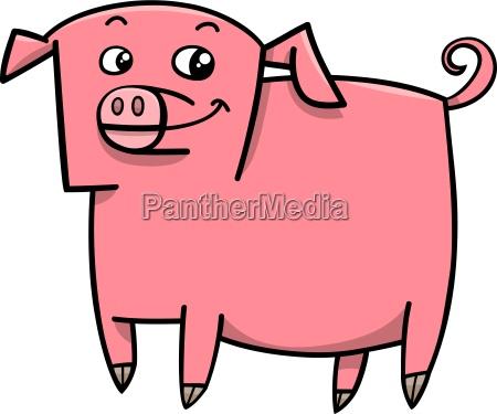 pig farm animal cartoon