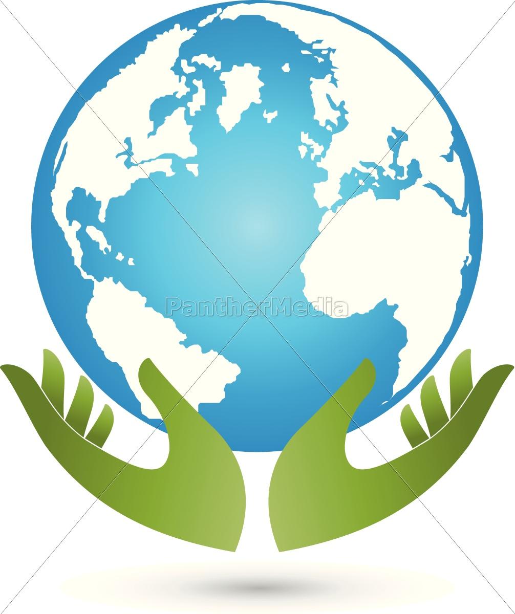 Globus Weltkugel Karte.Lizenzfreie Vektorgrafik 14654751 Erde Und Hände Globus Weltkugel Vektor