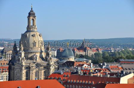dresden mit frauenkirche deutschland