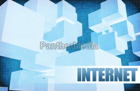 internet on futuristic abstract