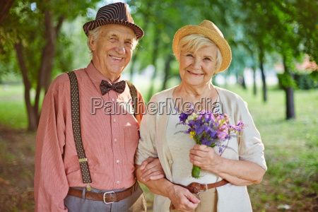 pensioners in park