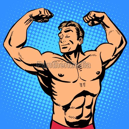 bodybuilder muskel gut aussehend athlet