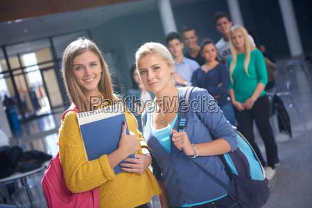 studenten gruppenstudie