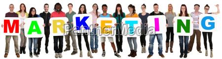 gruppe junge leute people multikulturell halten