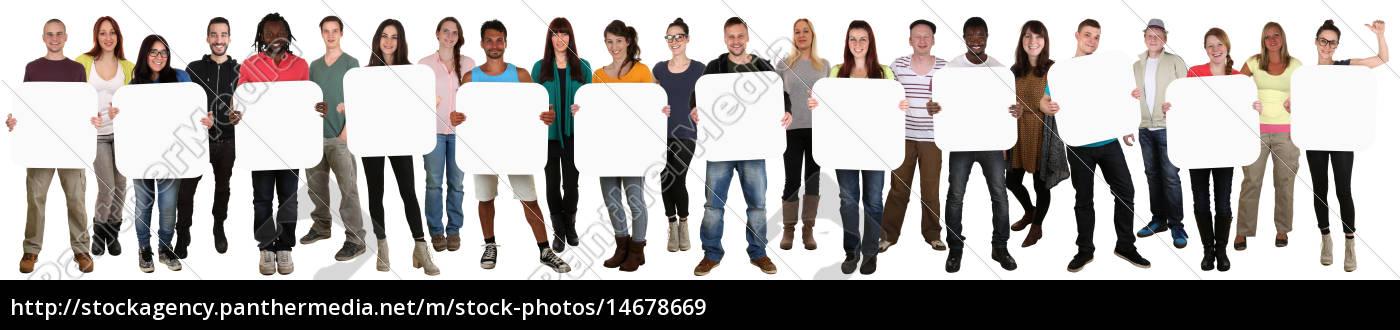 gruppe, junge, leute, people, halten, textfreiraum - 14678669