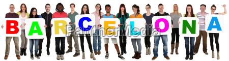 gruppe, junge, leute, people, multikulturell, halten - 14678637