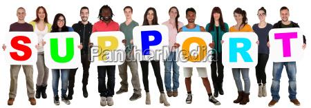 gruppe, junge, leute, people, multikulturell, halten - 14678645