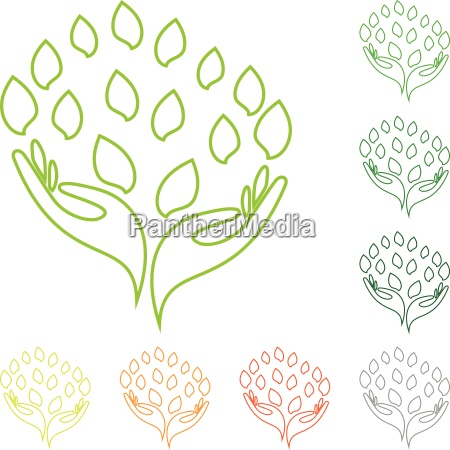 logo hand leaves naturopaths