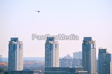 copter over the city