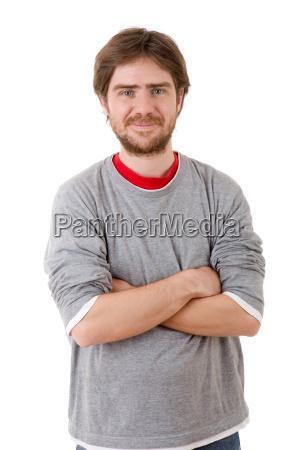 gluecklich casual mann