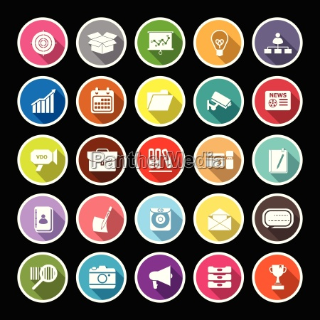 data and information flat icons with