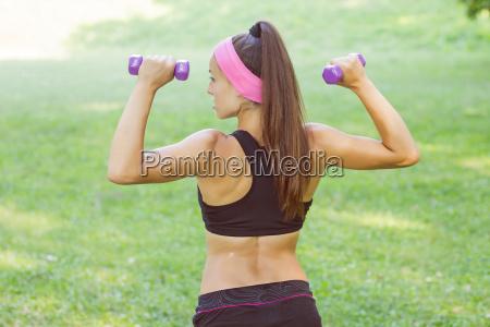 fitness muscular female body