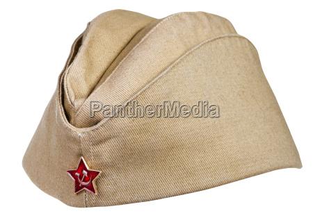 militaer feld cap mit sowjetischen roten
