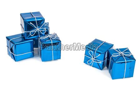 blau praesentieren geschenk boxen schachteln kasten