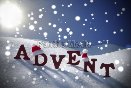 advent mean christmas time snowflake santa