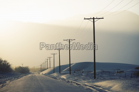 power lines reaching into the distance