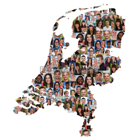 netherlands map people young people group
