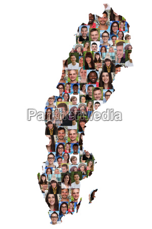 sweden map people young people group