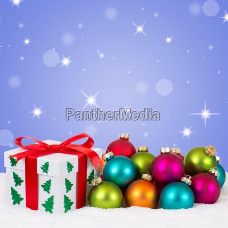 christmas gift at christmas with colorful