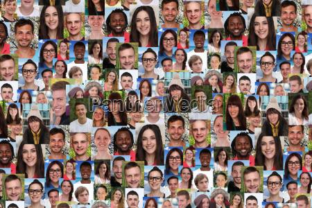 hintergrund, collage, junge, leute, große, menschen - 14720231