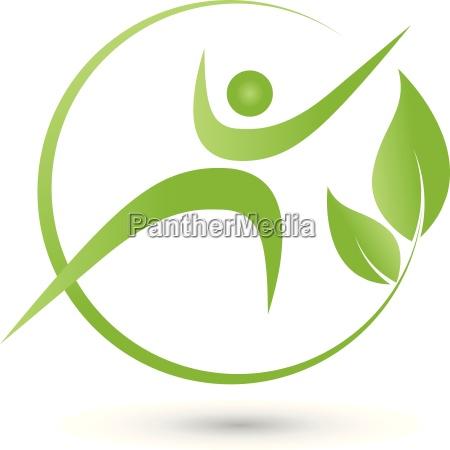 person in bewegung logo blaetter mensch