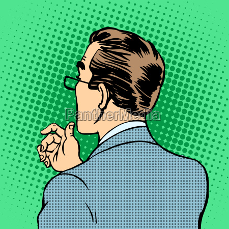 male businessman back