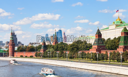 moskwa damm der kreml moskau