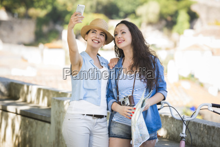 a selfie during vacations
