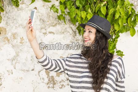 beautiful girl making a phone call
