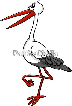 stork bird animal character