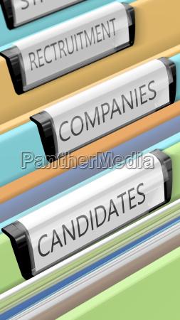 dateien zu kandidaten und unternehmenspositionen