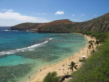 hawaii honolulu usa strand hanauma bay
