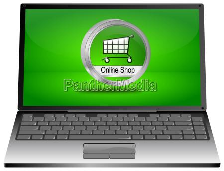 laptop computer mit online shop taste