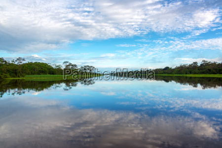 sky and water reflection