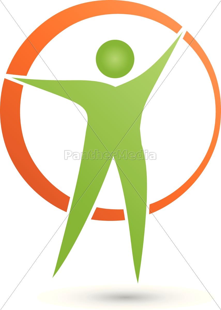 Mensch Und Kreis Logo Person Vektor Stockfoto 14745483