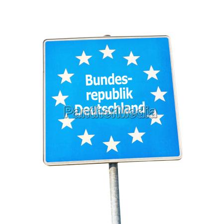 grenzzeichen von deutschland europa