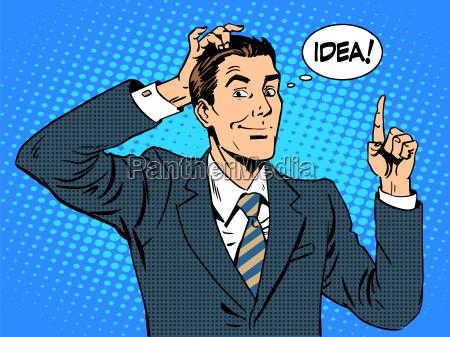 kreative geschaeftsleute geschaeftsmann idee